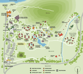 sleeping lady site map
